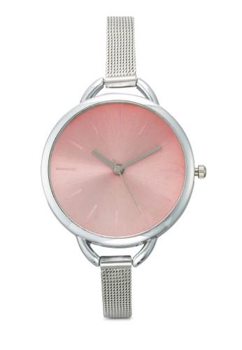 網眼圓框手錶, 錶類esprit衣服目錄, 不銹鋼錶帶
