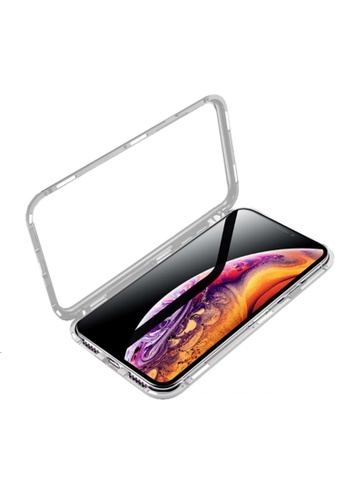 MobileHub silver Apple iPhone XS Max 360 Degree Magnetic Metal Bumper Case 6742CAC4E13870GS_1