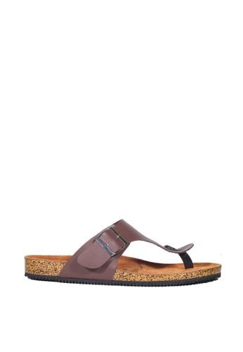 Zensa Footwear brown Zayn Dark Brown Minimalist Sandals E7967SH8F2BAA3GS_1