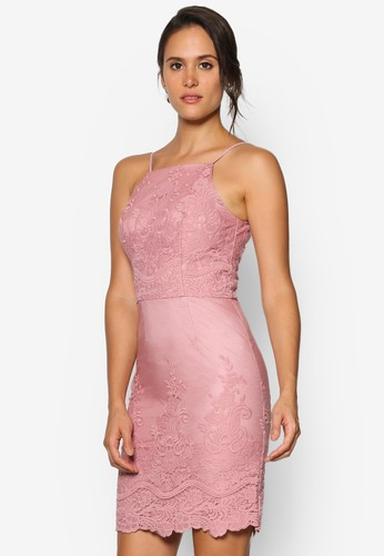 Bethany 蕾絲貼身esprit outlet 桃園細肩帶連身裙, 服飾, 洋裝
