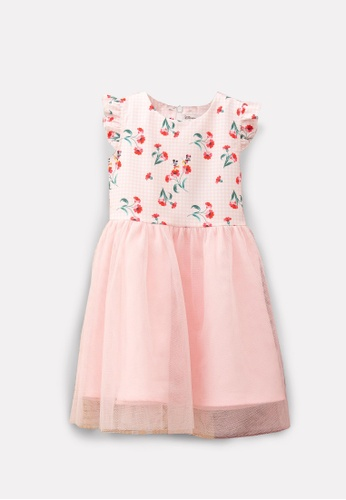 L'zzie pink MICKEY RED FLORAL DETACHABLE COLLAR CHEONGSAM DRESS - KIDS - PINK CAD17KA64C5974GS_1