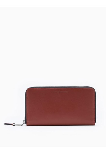 Calvin Klein red Continental Zip-Around Wallet 6D762ACE4A91C5GS_1