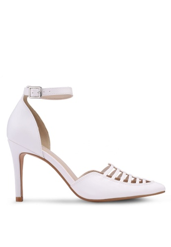 ZALORA white Pump Heels with Ankle Strap 03AFESH94C807CGS_1