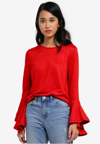 ONLY red ONLY ONE Ida Spring Pullover B1B47AAA214907GS_1