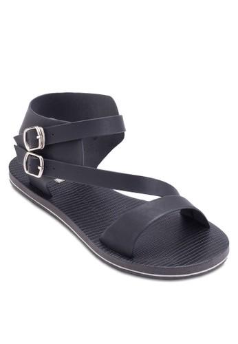 尖沙咀 espritSama 雙扣環踝帶涼鞋, 女鞋, 涼鞋