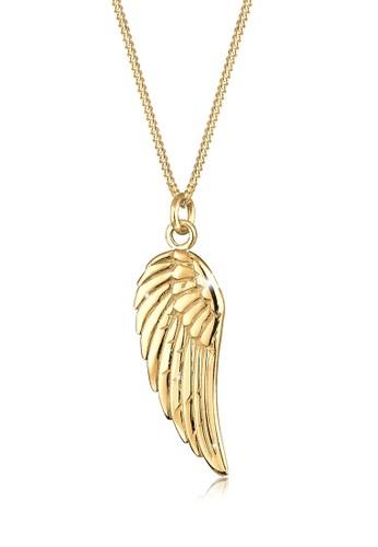 翅膀 925 純銀鍍金esprit旗艦店項鍊, 飾品配件, 項鍊