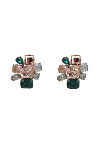 ALDO green Malamocco Button Earrings 9856CACF06E47DGS_1