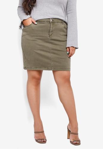 92c6eec18d Shop MISSGUIDED Plus Size Superstretch Denim Mini Skirt Online on ZALORA  Philippines
