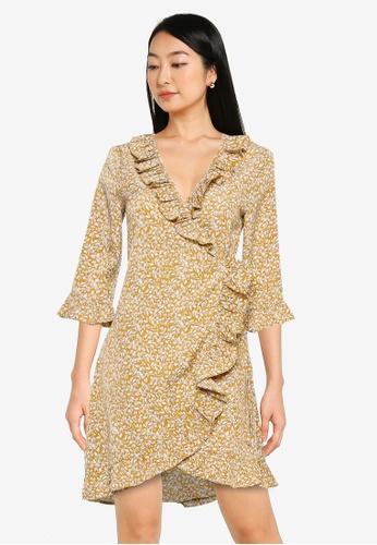 ZALORA BASICS multi Frill Detail Wrap Dress 0D173AA07F46AAGS_1