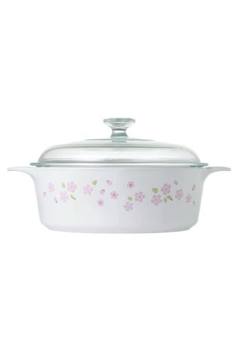 Corningware white Corningware 3.25L Round Covered Casserole - Sakura 24BECHLCD62E56GS_1