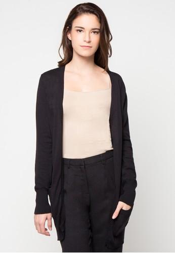 Noir Sur Blanc black Ladies Cardigan Long Sleeve NO321AA79VZKID_1