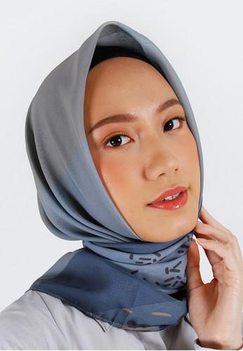 QUEENSLAND blue Hijab Segi Empat Motif A04103Q Biru 84D36AA625E346GS_1