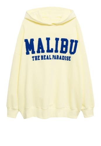 MANGO KIDS yellow Oversized Message Sweatshirt 36869KA8C41C28GS_1