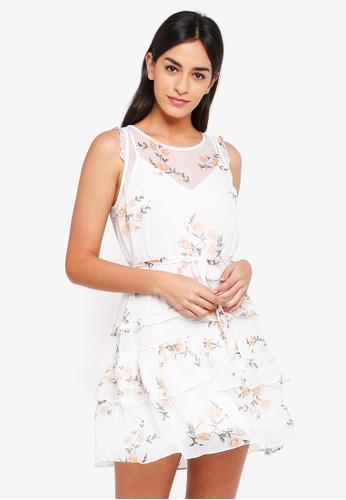 Abercrombie & Fitch white Ruffle Hem Sleeveless Dress DC98FAA63EB6A0GS_1