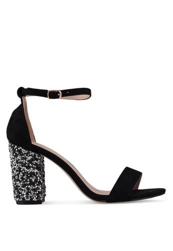 Carlton London 黑色 閃亮高跟鞋 ADFAASH63C17D6GS_1