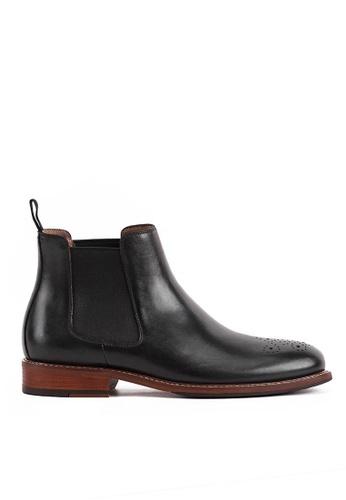 Twenty Eight Shoes black Bittters Vintage Leather Chelsea Boot 618-169 A3FD5SHD8155F2GS_1