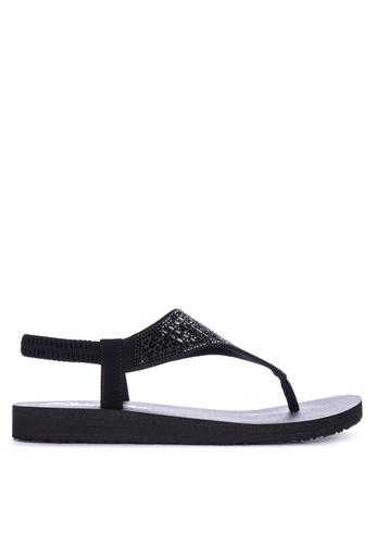 005a796e6 Shop Skechers Meditation Rock Crown Sling Back Thong Sandals Online on  ZALORA Philippines