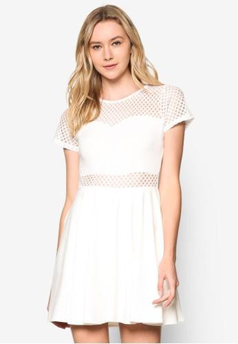 Trzalora 包包評價apeze 網眼拼接連身裙, 服飾, 洋裝