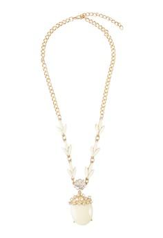 水晶框珠寶墜飾項鍊