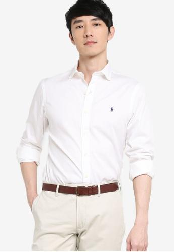 Polo Ralph Lauren white Long Sleeve Slim Shirt D6CA0AAEB05A89GS_1