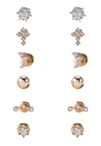 多主題釘狀耳環組,esprit台灣官網 飾品配件, 飾品配件