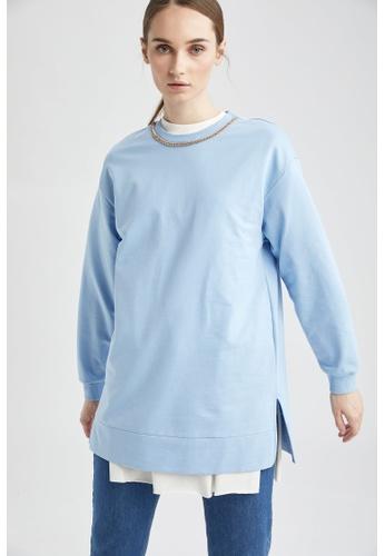 DeFacto blue Long Sleeve Sweat Tunic 81F50AAF078A1DGS_1