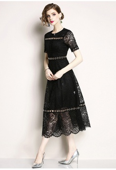 11cfdce71e01 46% OFF Sunnydaysweety 2018 New Black Lace One Piece Dress A060815BK S   182.00 NOW S  99.00 Sizes M XL