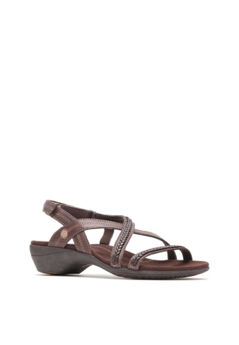 e2f4be8acd9 Hush Puppies brown Womens Theia Casual Sandals EE027SHE529A0EGS 1
