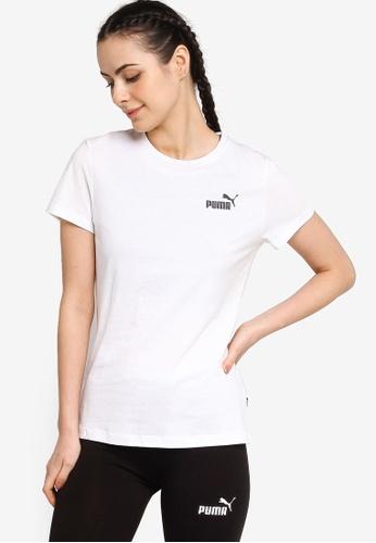 PUMA white Essentials Small Logo Women's Tee B666EAA4C95D88GS_1