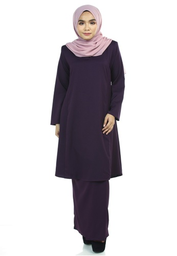 Afra Kurung Pahang from Ashura in Purple