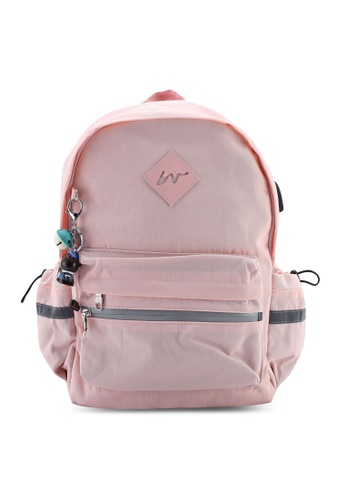 Bagstationz pink Fashion Laptop Backpack 28C0CACF4F1590GS_1