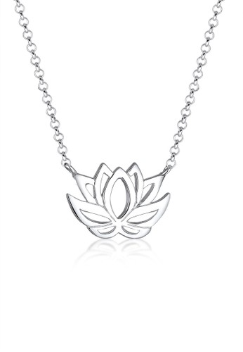 Elli Germany silver 925 Sterling Silver Kalung Lotus Silver 98925AC1B05A5BGS_1