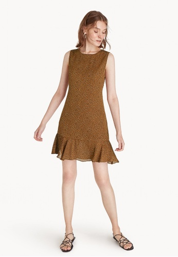 Pomelo brown Saffron Sleeveless Ruffle Dress - Brown 3C23EAAE7C0F72GS_1