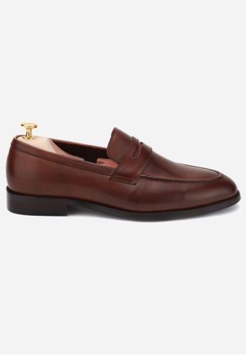 Earnest & Collective red Dover III Wine Penny Loafers 042FBSH8FF6B9EGS_1