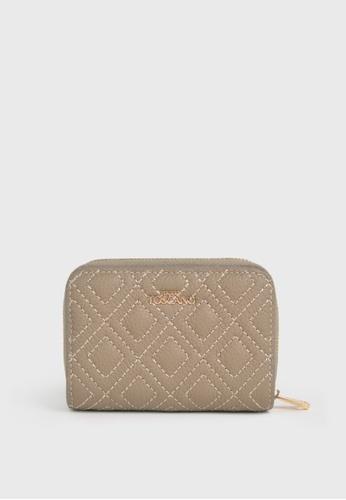 Tocco Toscano beige Hepburn Petite Quilted Wallet (Sand) B1FB3ACA69F644GS_1