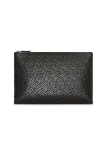 Burberry black Burberry Monogram Pouch Bag in Black for UNISEX 9A996ACB1E7012GS_1