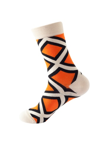 Kings Collection white Diamond Pattern Cozy Socks (One Size) HS202387 90D20AACC4F8D7GS_1