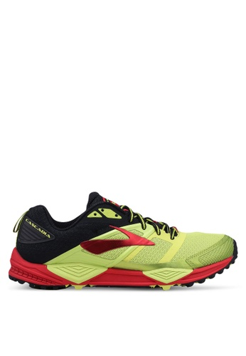 Brooks yellow Cascadia 12 Shoes DCA13SH0F88C29GS_1