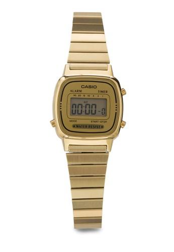 LA670WGA-9Desprit causeway bayF 金色 數碼女性不銹鋼手錶, 錶類, 飾品配件