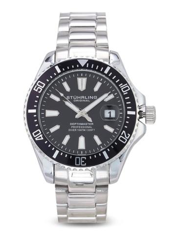 Stuhrling Original silver Aquadiver 3950A Watch D5EC8ACE876D85GS_1