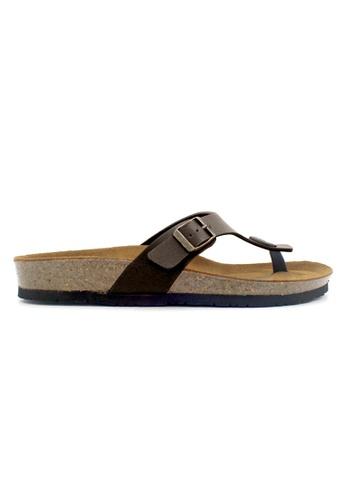 SoleSimple 褐色 Prague - 深棕褐色 百搭/搭帶 全皮軟木涼鞋 BD6A1SH3748054GS_1