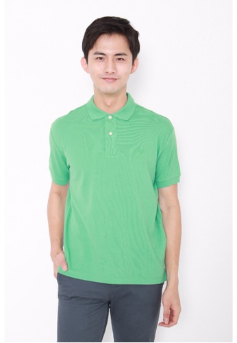 Dockers green Dockers Standard Pique Polo Green Spruce DO282AA0G6P0SG_1