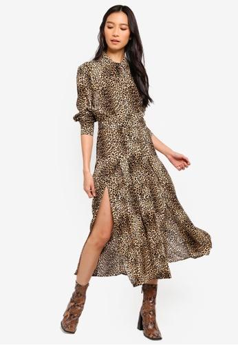 5554c747a8c4 Buy TOPSHOP Petite Animal Midi Shirt Dress Online on ZALORA Singapore