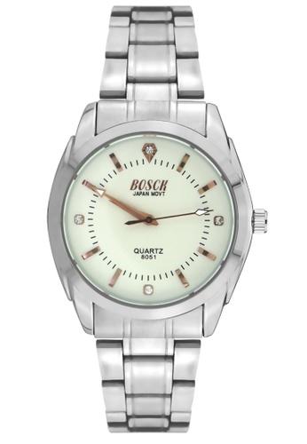 Dooka silver Bosck Men's Round Dial Stainless Steel Wrist Watch 8051 DO079AC52UZBPH_1