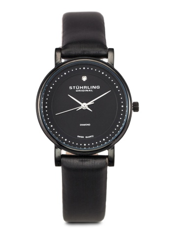 Stuhrling Original black Black Satin Twill Watch ST251AC0RFJPMY_1
