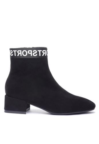 Twenty Eight Shoes 黑色 猄布踝靴2028-8 90077SH12D2465GS_1