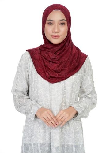 KASHKHA red Jersey rhinestone decorative shawl-MAROON 888CEAAFD8F87FGS_1