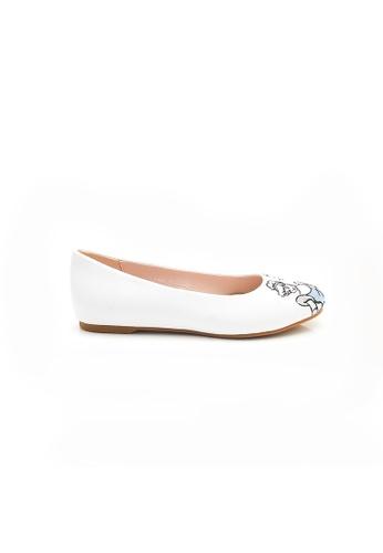Elisa Litz 白色 PRINCESS CINDERELLA FLATS - WHITE F5C1ASH41E7082GS_1