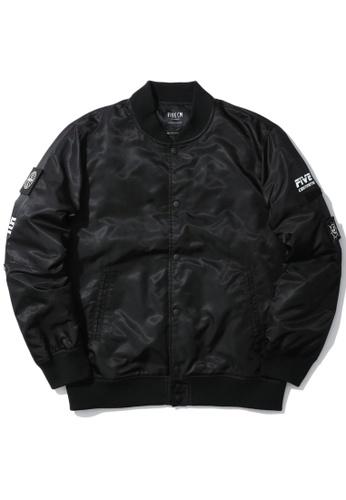 Fivecm black Emblem patch coach jacket AB5C9AA73ECB29GS_1