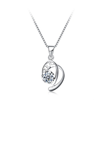 Glamorousky white 925 Sterling Silver Elegant Fashion Hollow Out Geometric Space Pendant Necklace with Cubic Zircon 15EEBAC42F879DGS_1